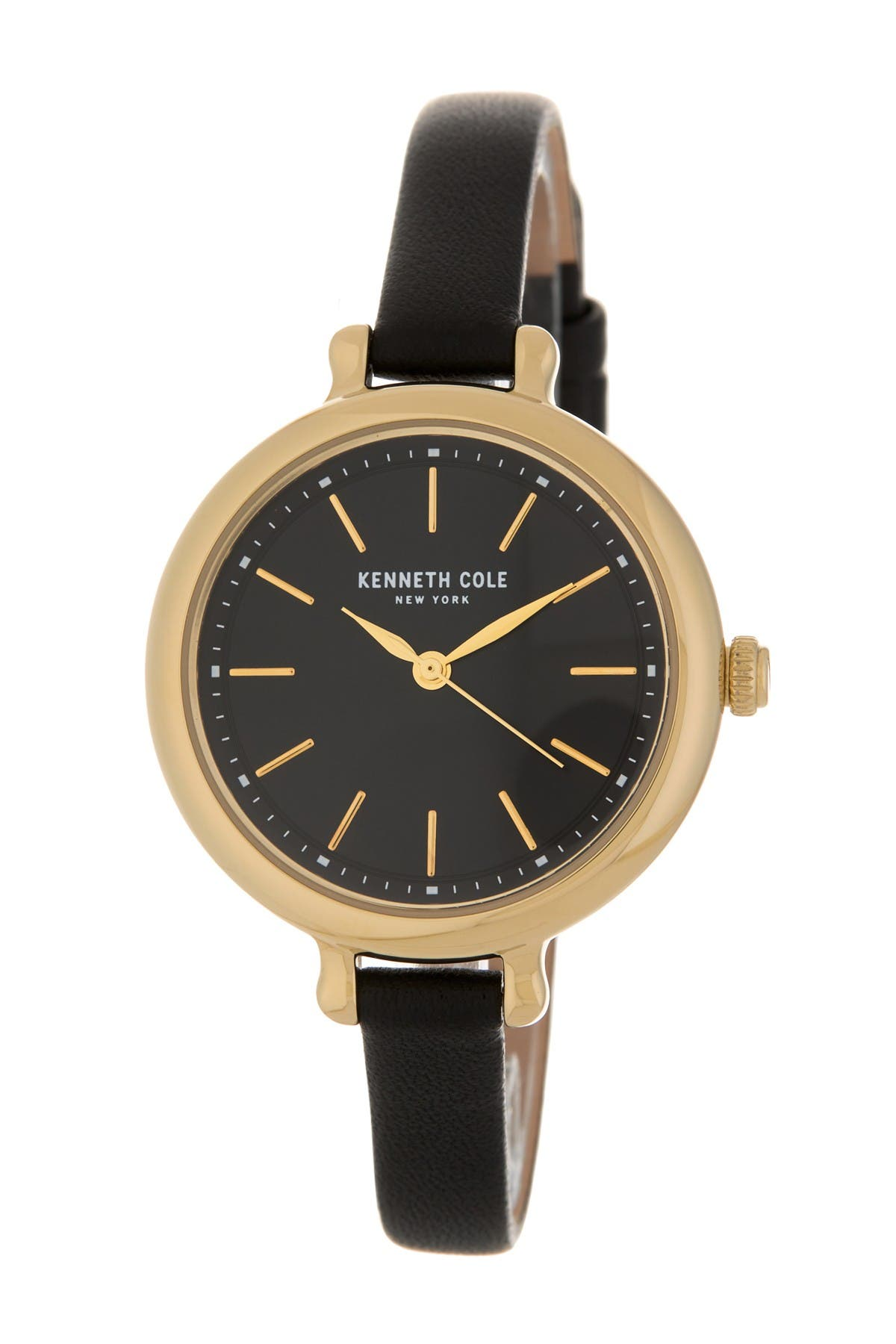 Image of Kenneth Cole New York Women's Thin Leather Strap Watch, 32mm