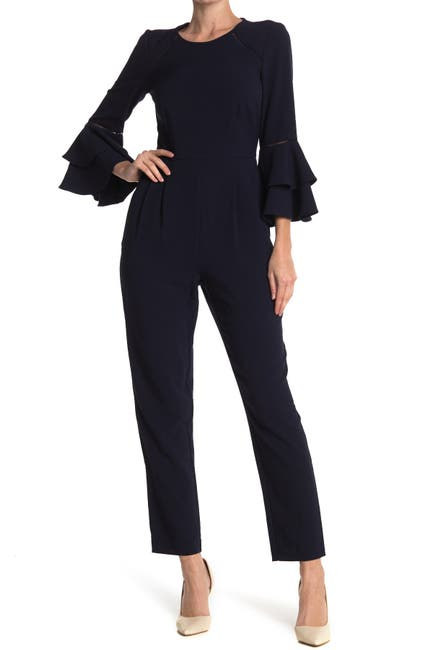 Image of Eliza J Double Ruffle Sleeve Jumpsuit