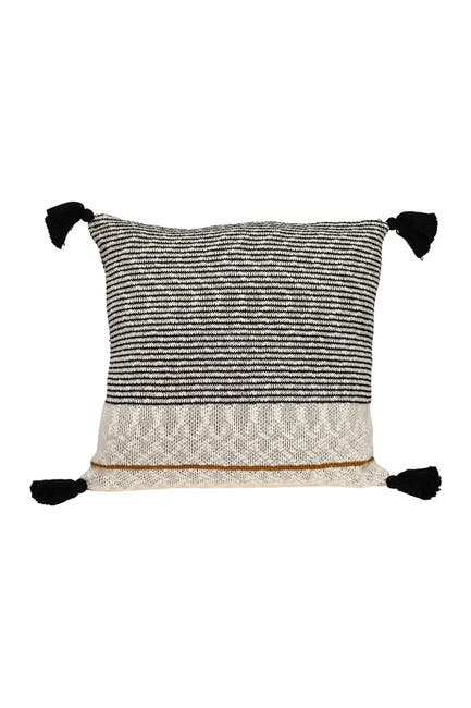 Image of Parkland Collection Theo Transitional Beige/Cream Throw Pillow