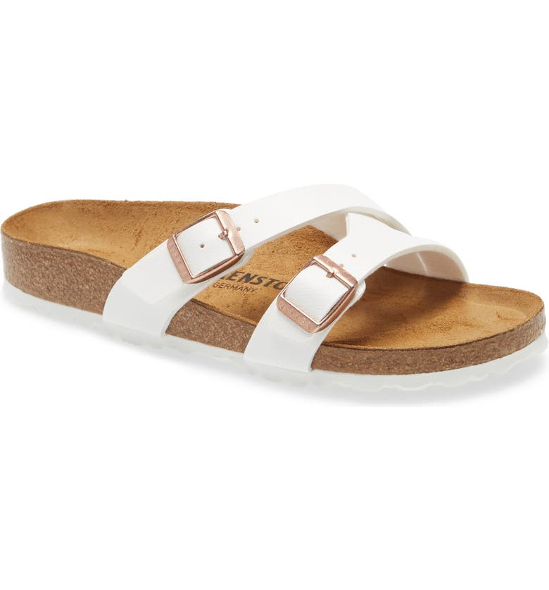 BIRKENSTOCK Yao Slide Sandal, Main, color, NEW WHITE