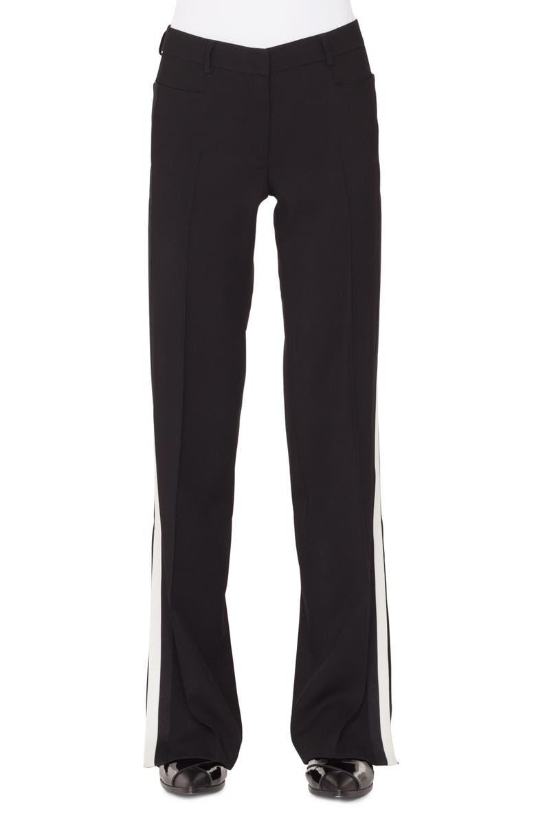 AKRIS PUNTO Mikka Side Stripe Wool Pants, Main, color, NERO