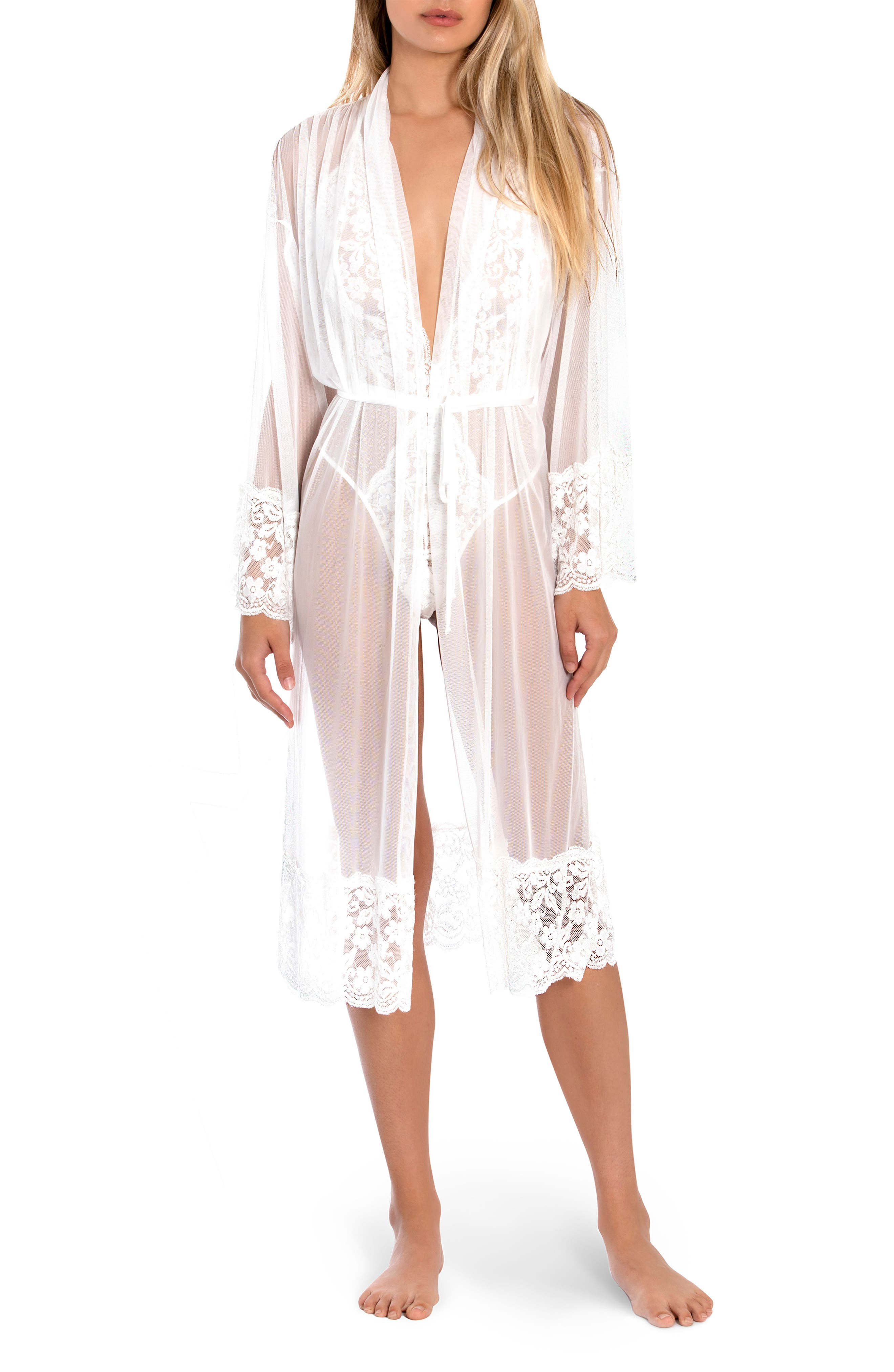 Words Of Love Lace & Mesh Robe