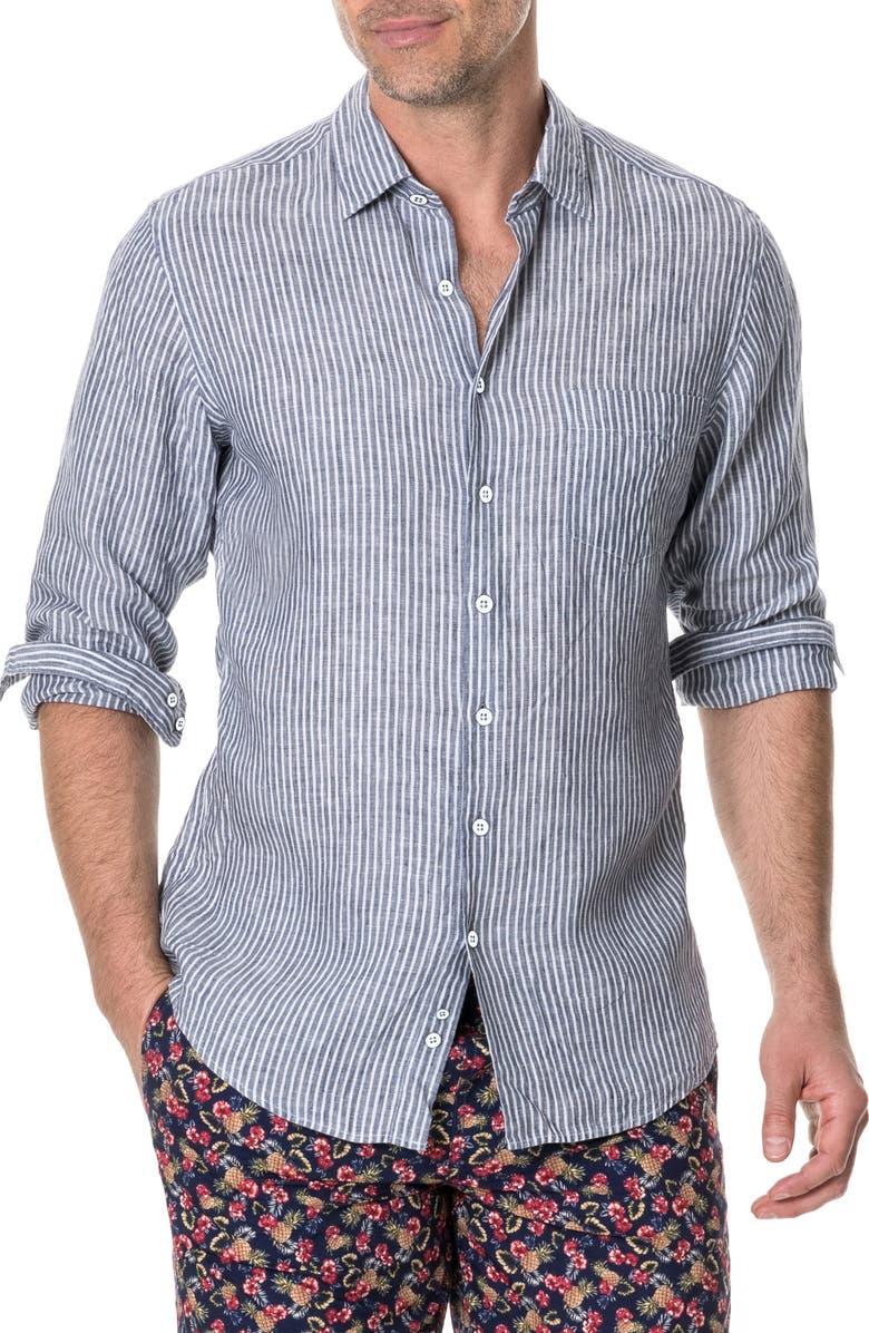 RODD & GUNN Tweed Street Regular Fit Shirt, Main, color, 400