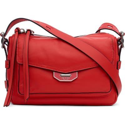 Rag & Bone Small Leather Field Messenger Bag - Red