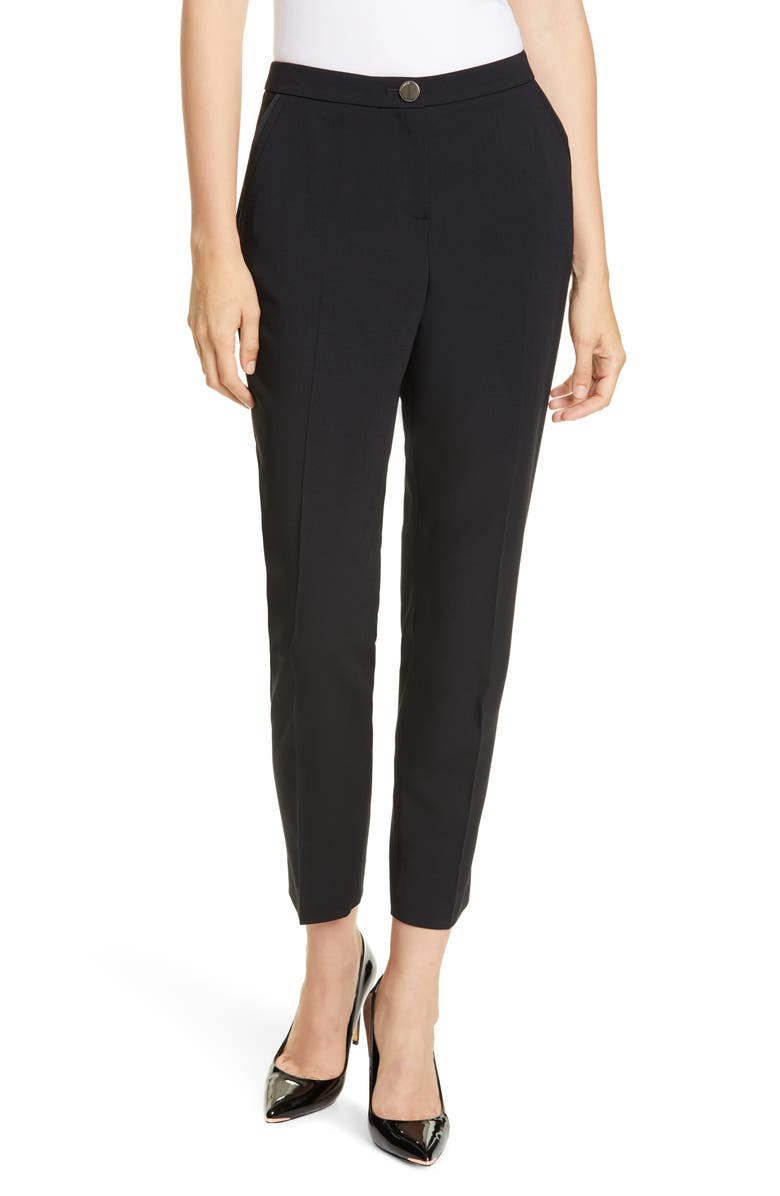 TED BAKER LONDON Contrast Pocket Detail Trousers, Main, color, BLACK