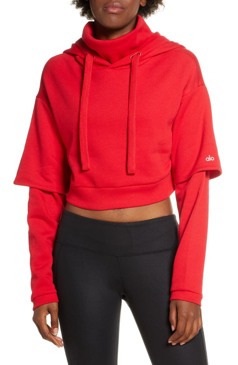 ALO Eternal Hoodie, Main, color, SCARLET