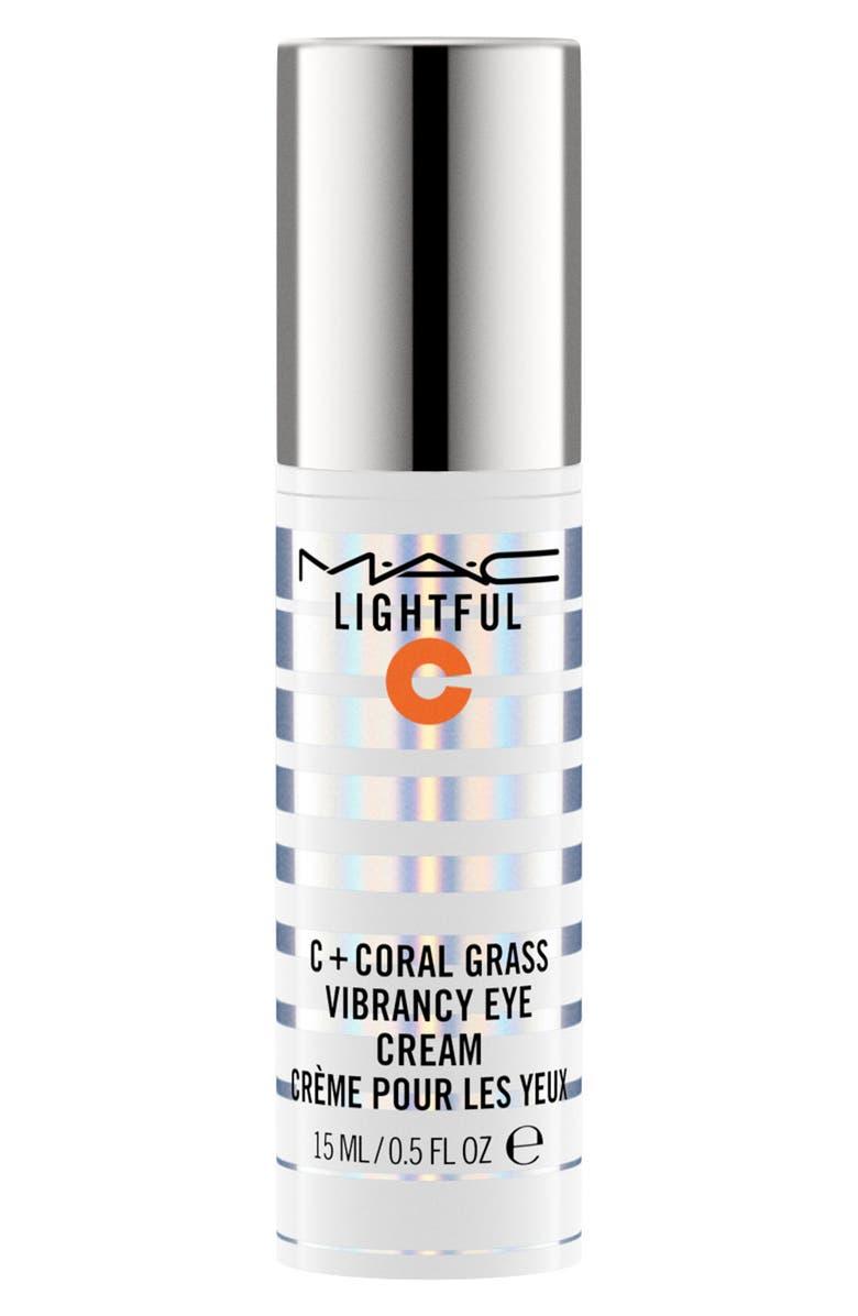 MAC COSMETICS MAC Lightful C Coral Grass Vibrancy Eye Cream, Main, color, NO COLOR