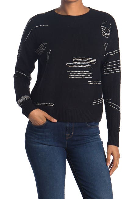 Image of SKULL CASHMERE Parket Cable Stitch Cashmere Crew Neck Sweater