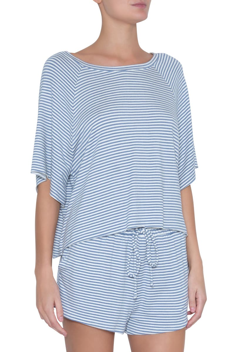 EBERJEY The Varsity Sadie Stripes Tee, Main, color, OXFORD BLUE/ IVORY