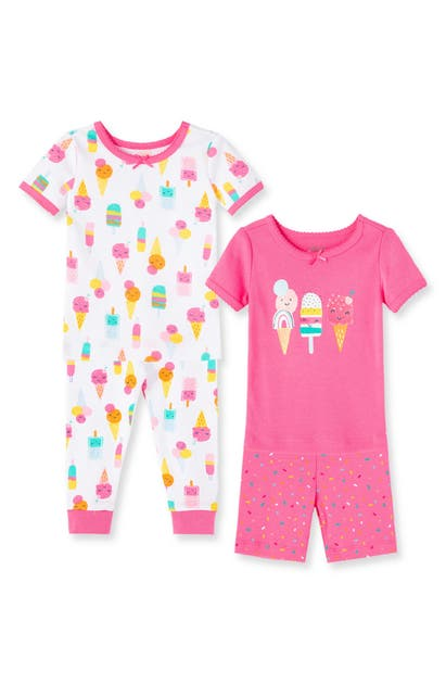 Little Me Sets ICE CREAM SET OF 2 FITTED TWO-PIECE PAJAMAS