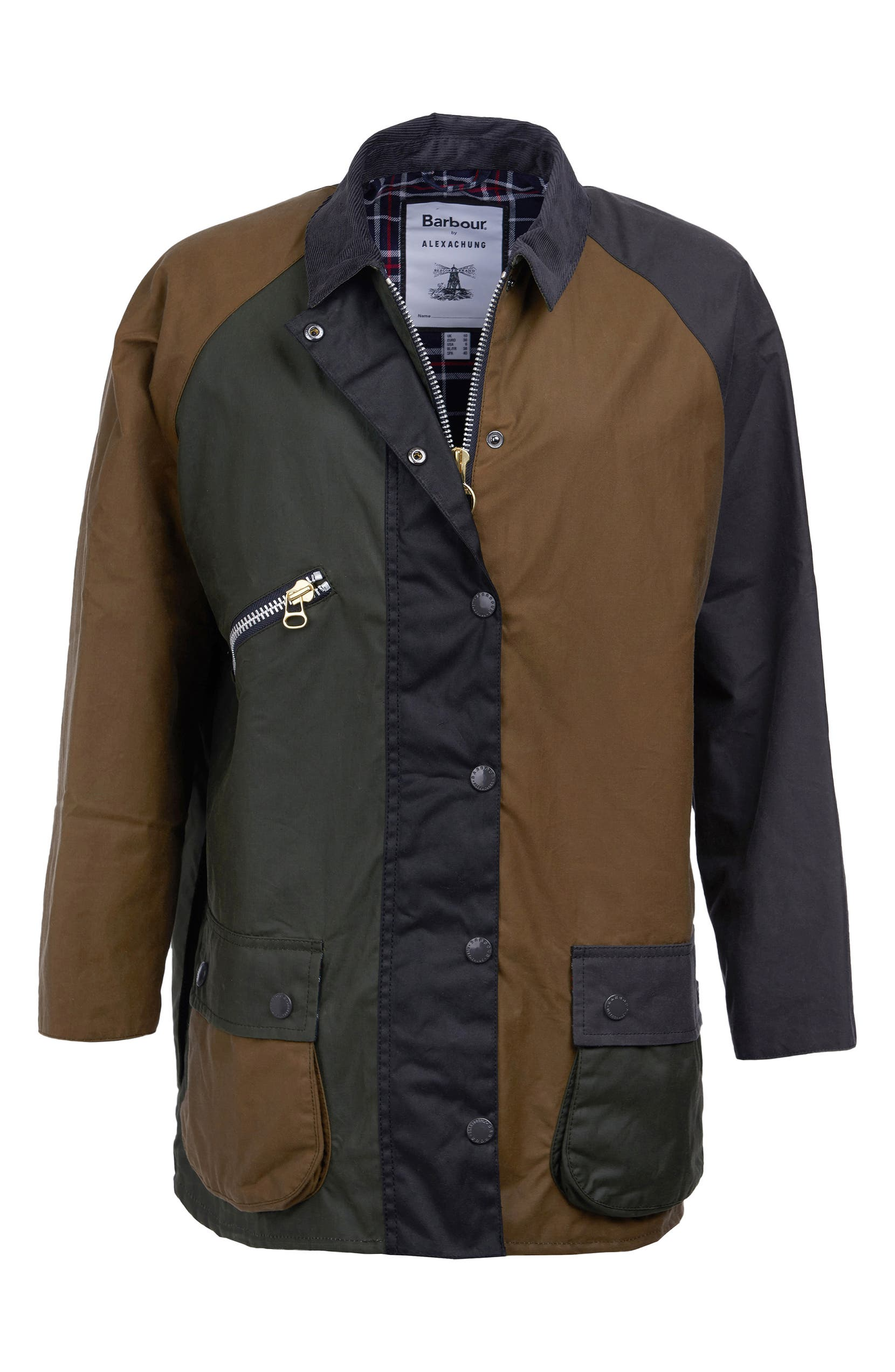 497304c5dd4f7 Barbour x ALEXACHUNG Patch Weatherproof Waxed Cotton Jacket | Nordstrom