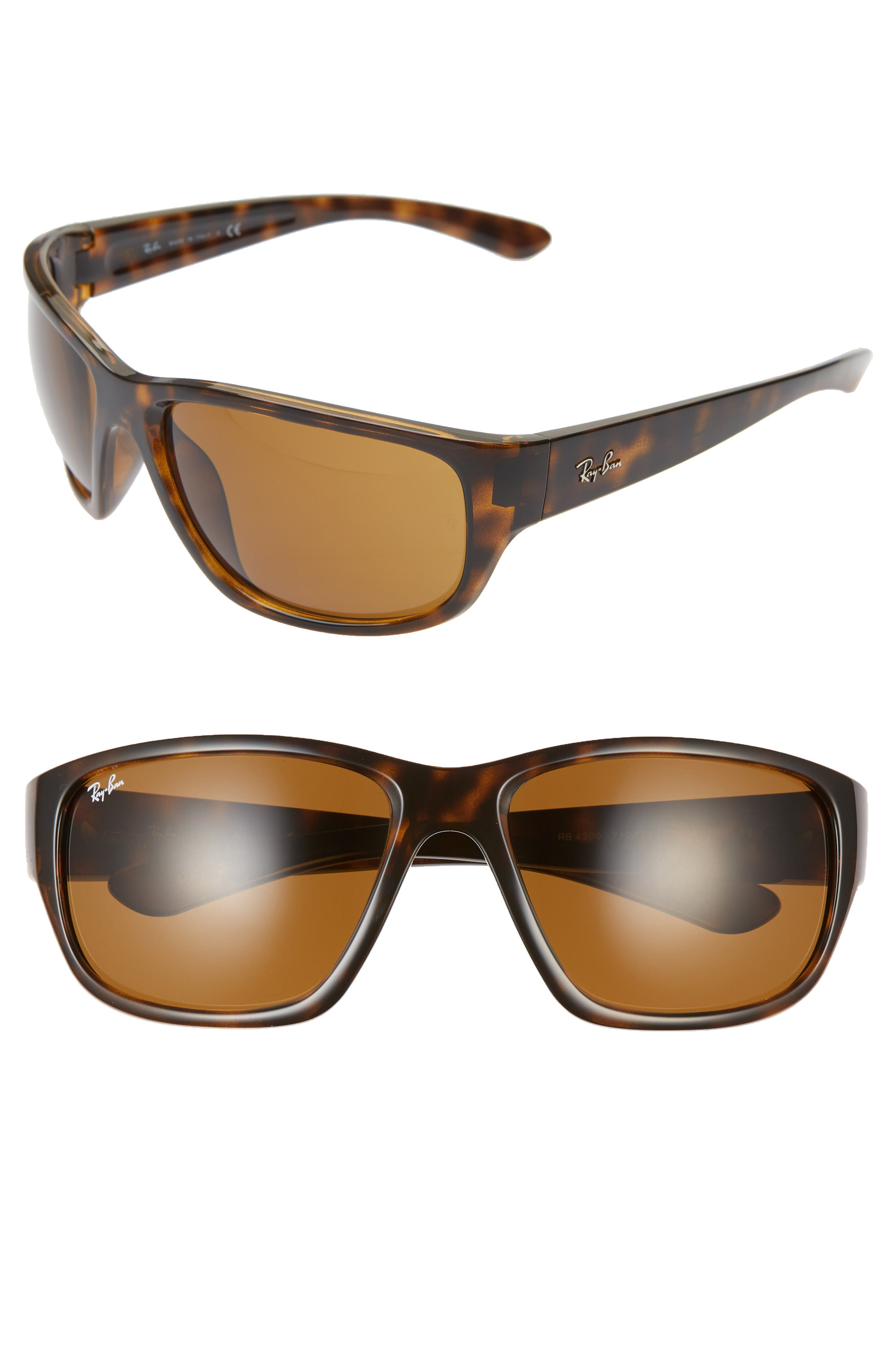 Ray-Ban 6m Oversize Square Sunglasses - Havana/ Brown Solid