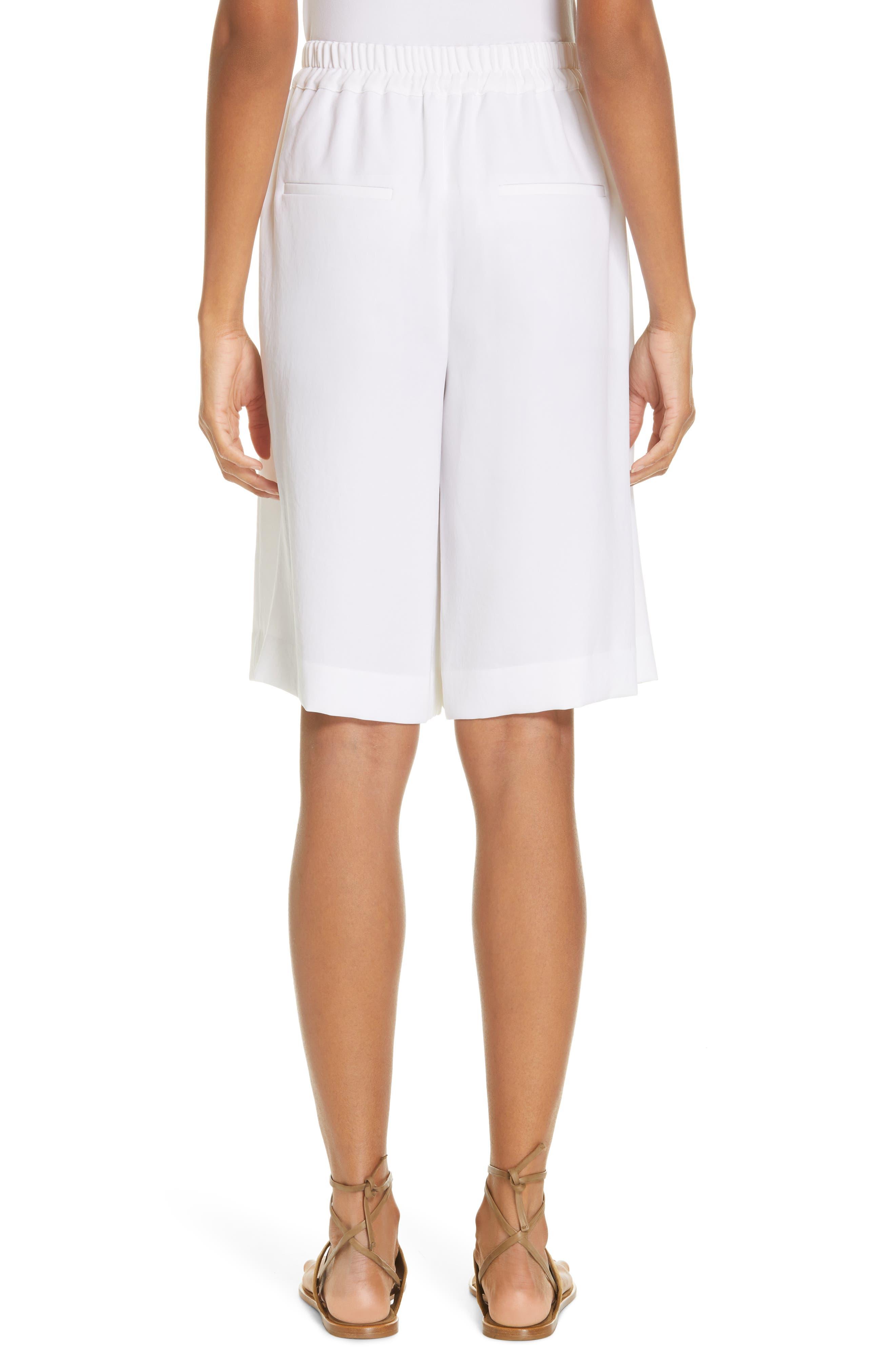 ,                             Wide Leg Pull-On Shorts,                             Alternate thumbnail 2, color,                             OPTIC WHITE