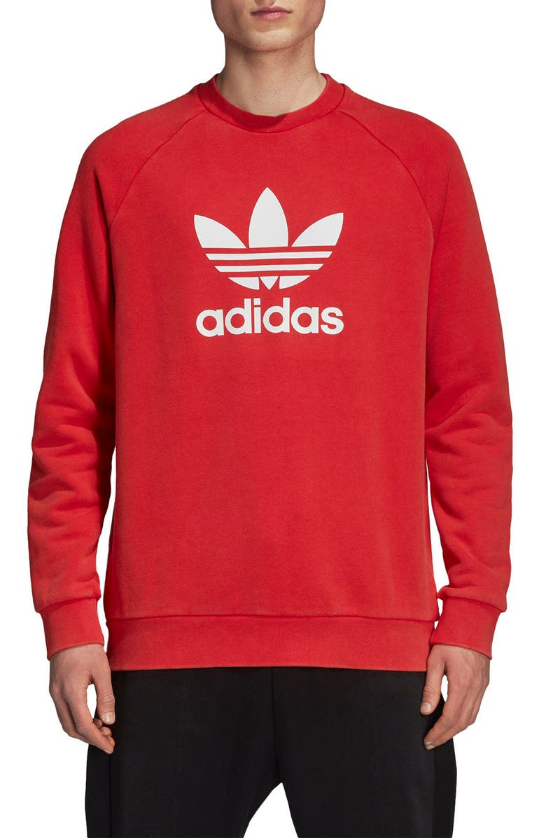 ADIDAS ORIGINALS Trefoil Logo Warm-Up Sweatshirt, Main, color, 622