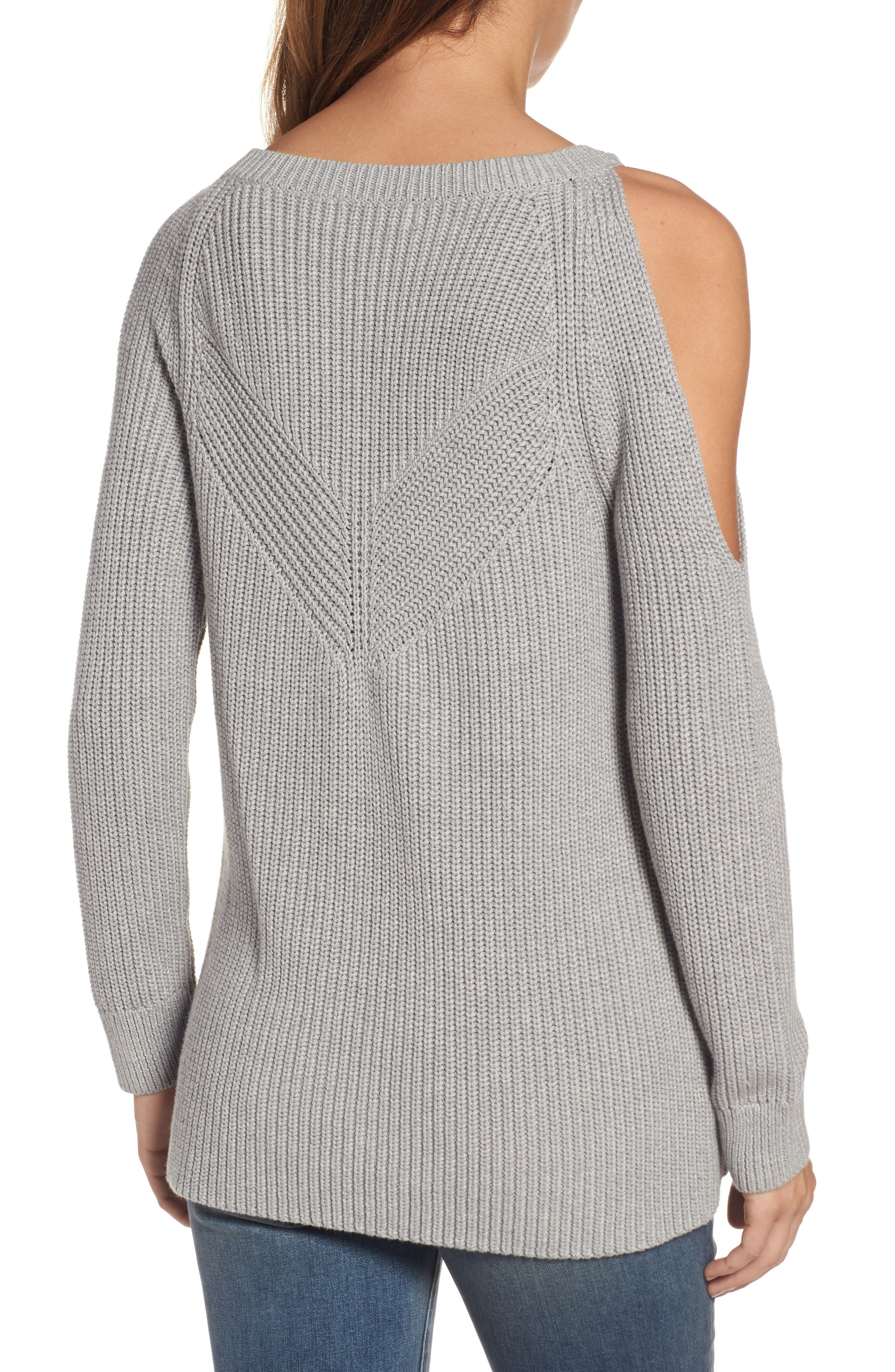 ,                             Asymmetrical Cold Shoulder Sweater,                             Alternate thumbnail 2, color,                             020