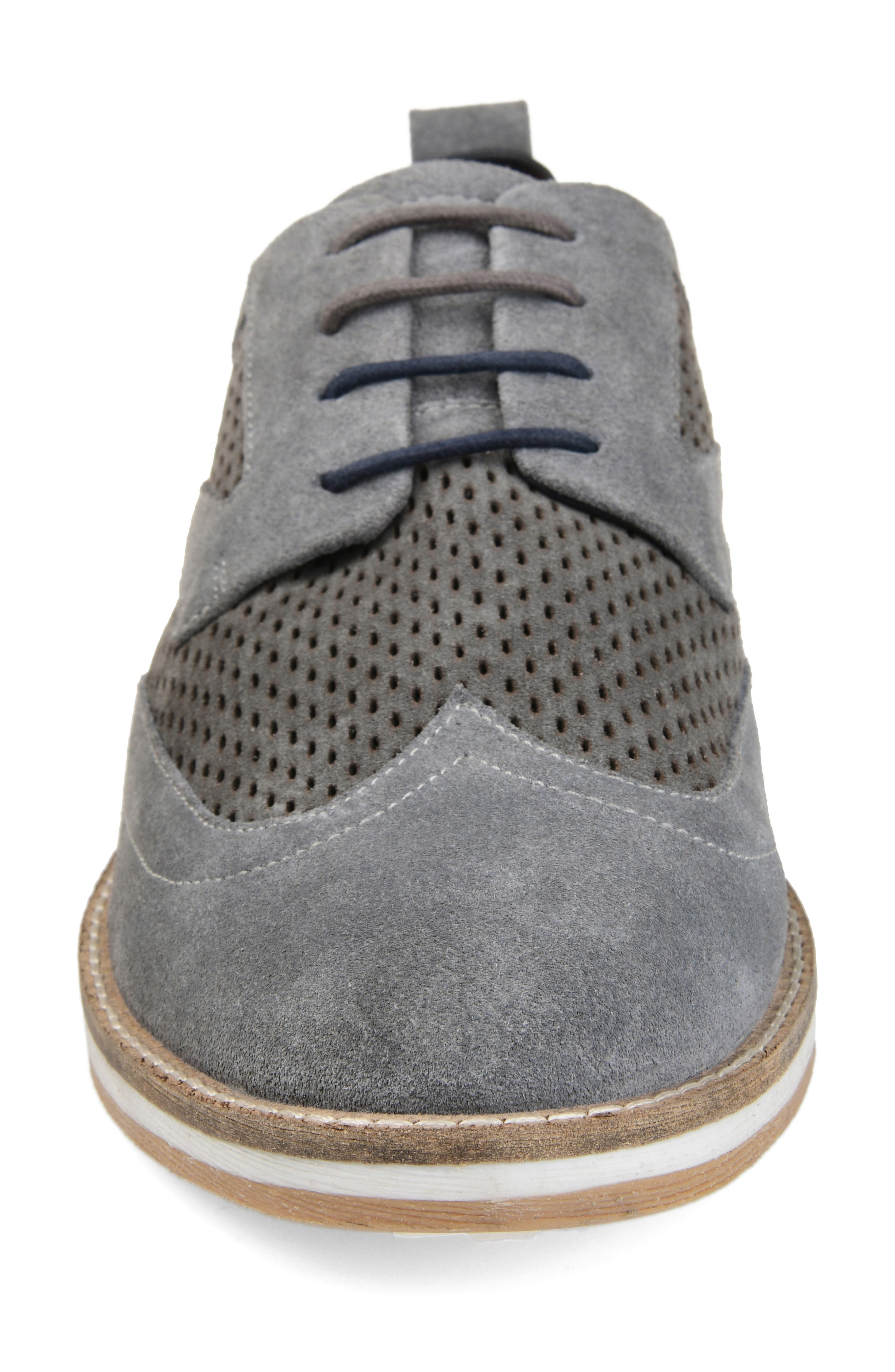,                             Jett Perforated Wingtip,                             Alternate thumbnail 4, color,                             GREY SUEDE