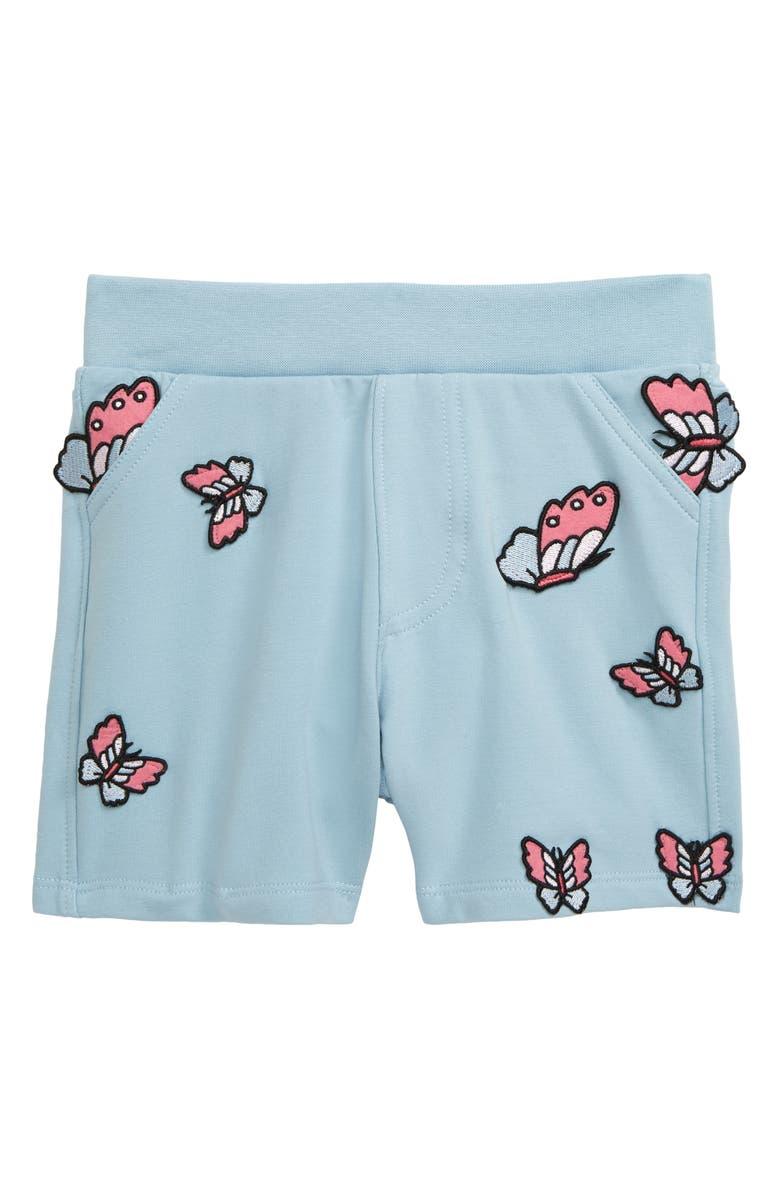 ART & EDEN Waverly Appliqué Organic Cotton Shorts, Main, color, 450