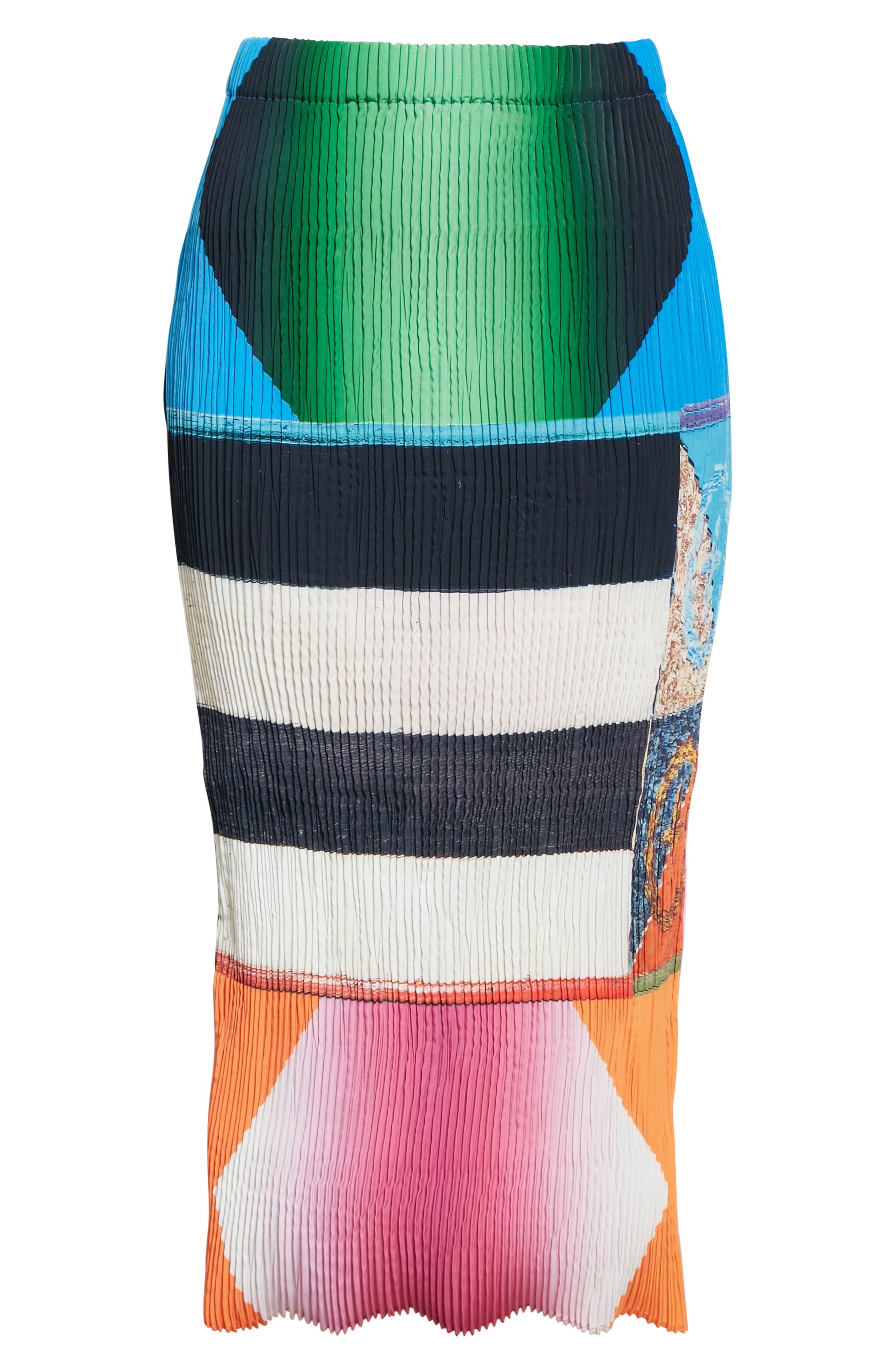 Ekke Shibori Pleated Midi Skirt