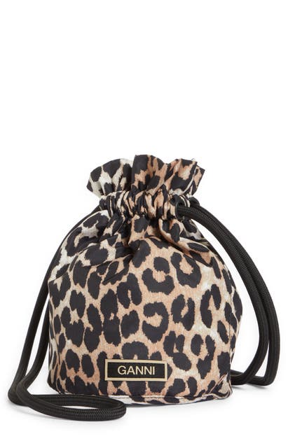 Ganni FESTIVAL DRAWSTRING BUCKET BAG