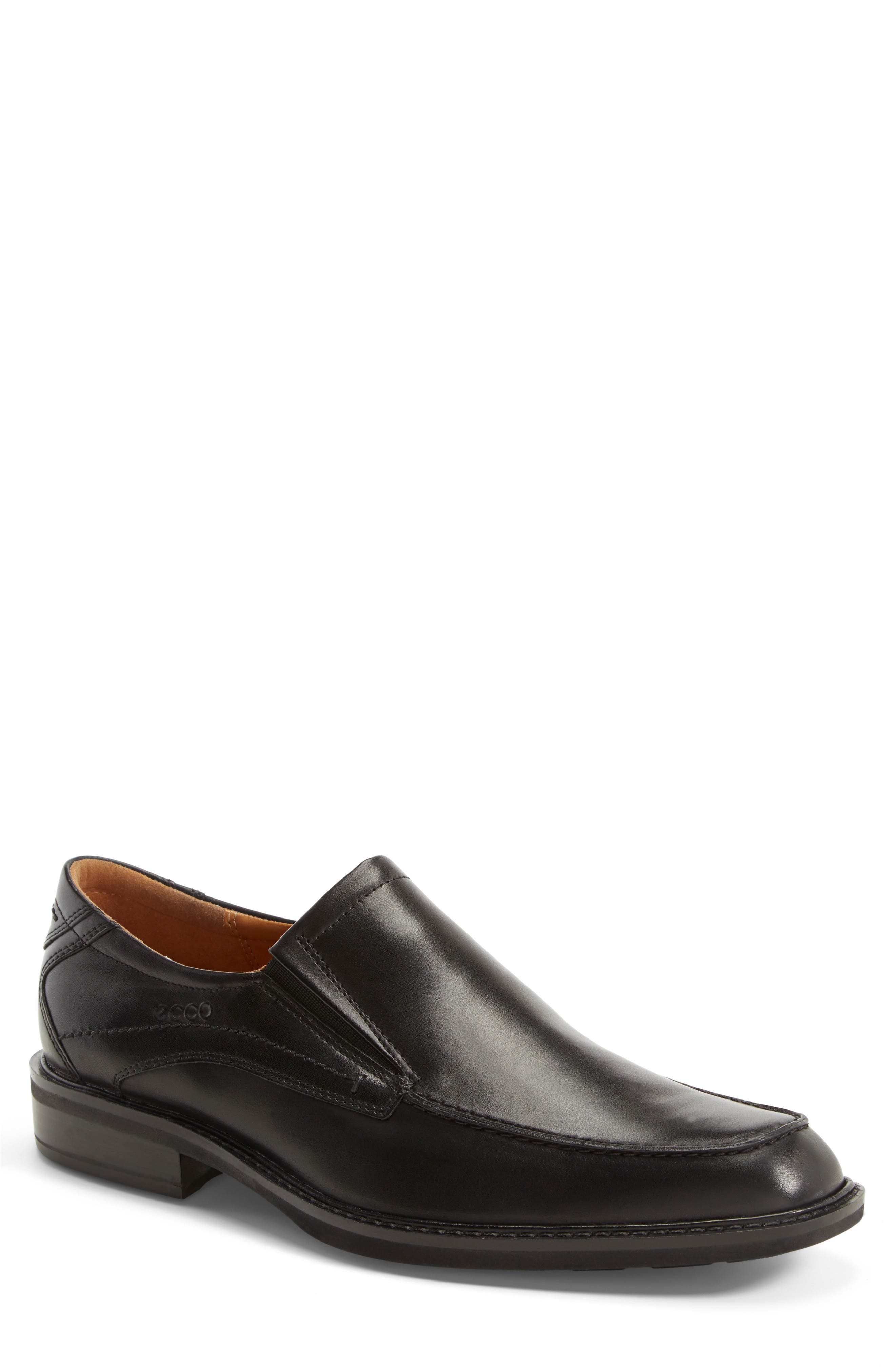 'Windsor' Slip-On, Main, color, BLACK/BLACK LEATHER