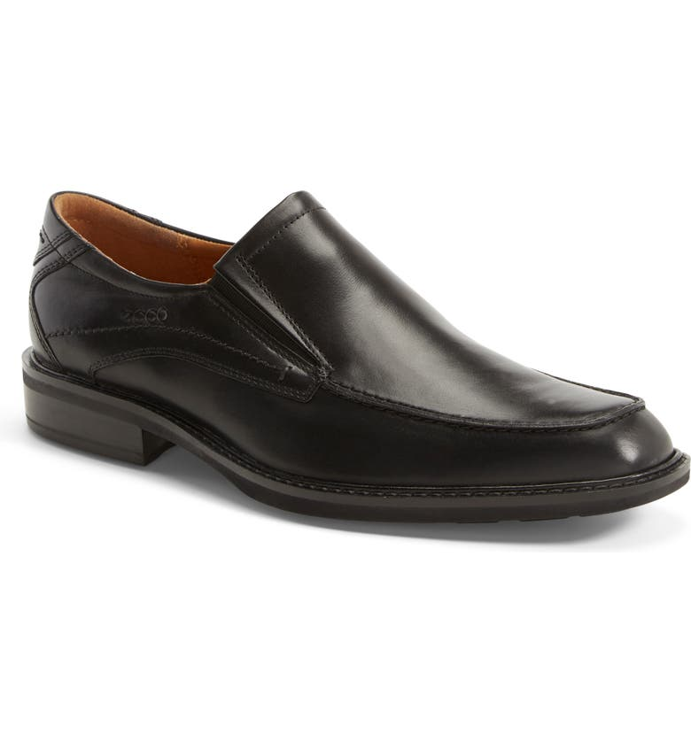 ECCO Windsor Apron Toe Slip-On, Main, color, BLACK/BLACK LEATHER