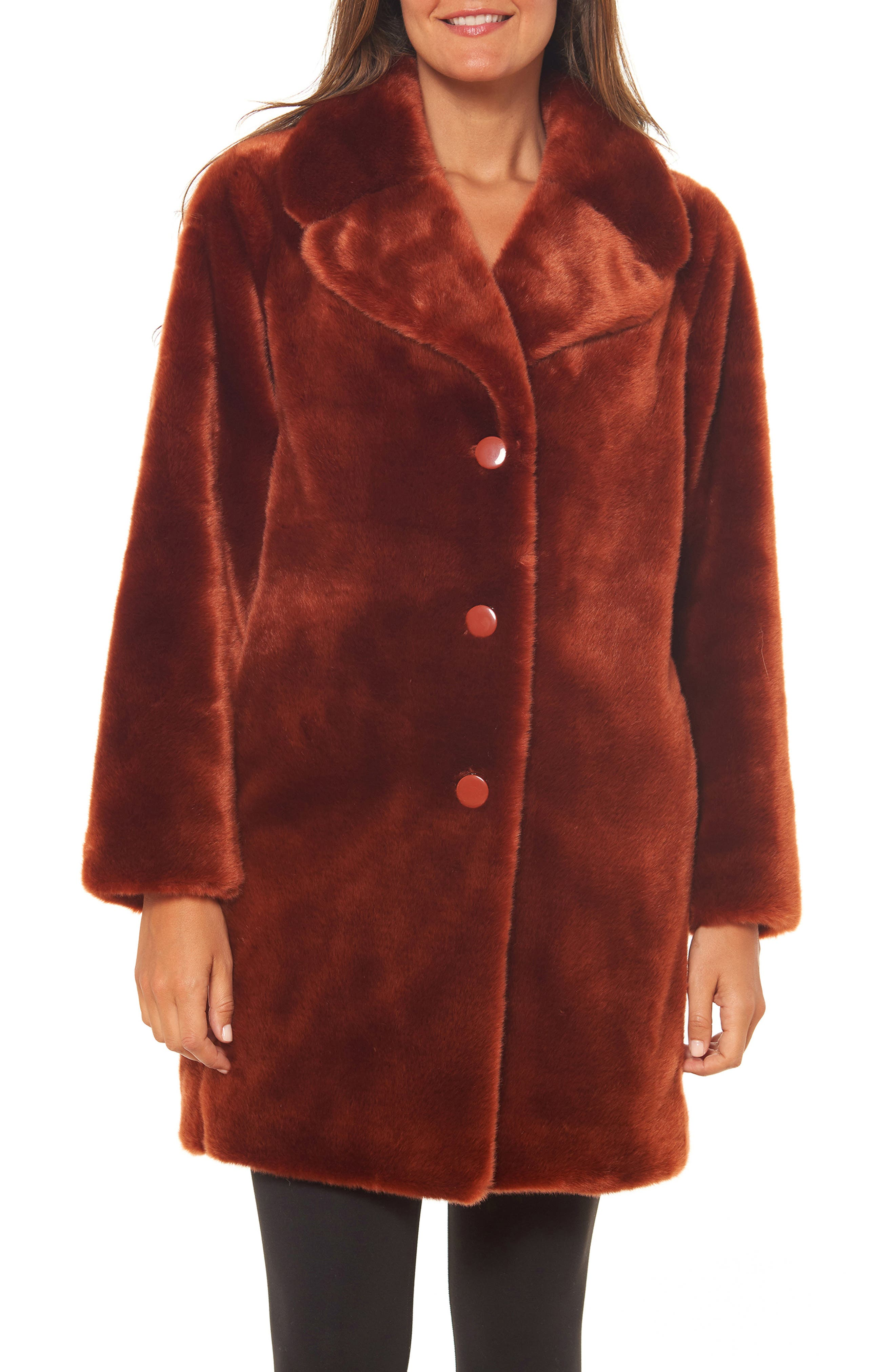 70s Outfits – 70s Style Ideas for Women Womens Kate Spade New York Faux Fur Coat Size Small - Brown $239.90 AT vintagedancer.com