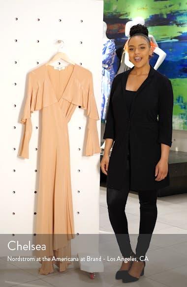 Isla Silk Midi Wrap Dress, sales video thumbnail