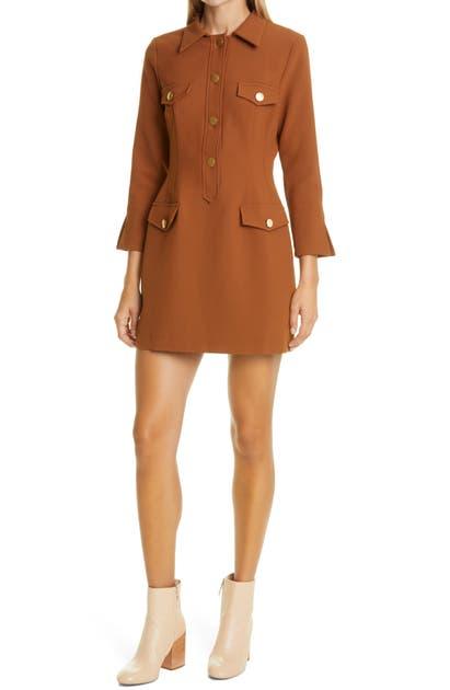Bytimo Tailored Blazer Minidress In 480 - Rust