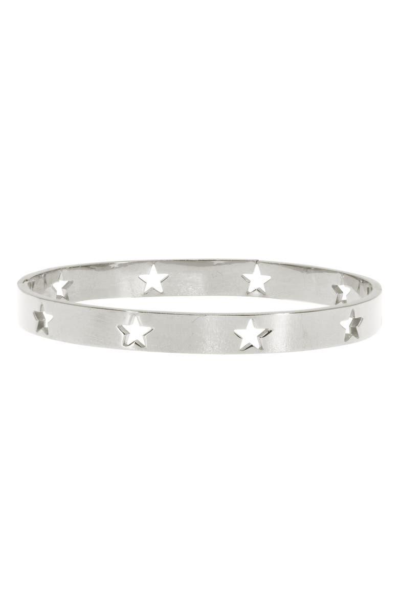 RAGEN JEWELS Star Bangle, Main, color, SILVER