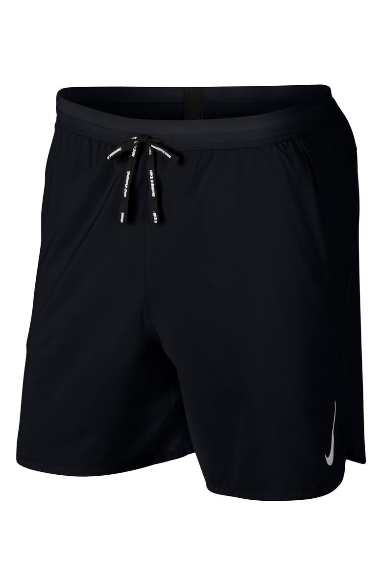 NIKE Dri-FIT Flex Strike 2-in-1 Shorts, Main, color, BLACK/ BLACK/ SILVER