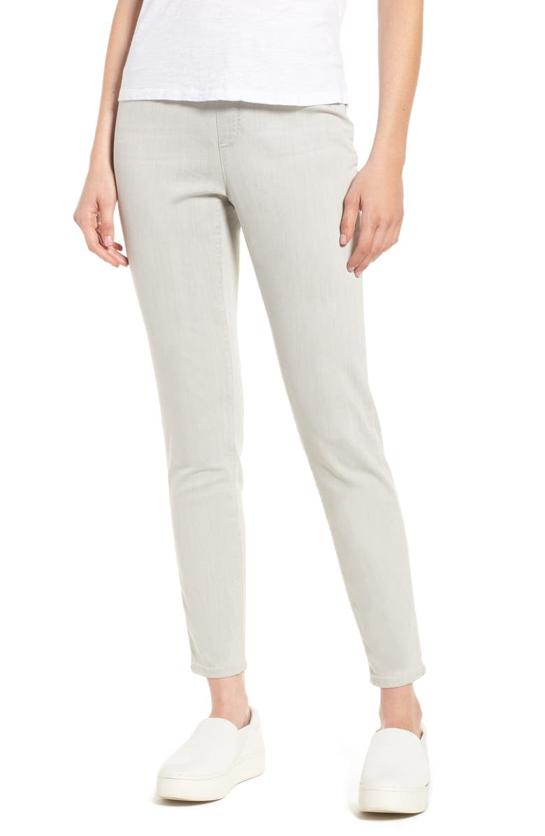 EILEEN FISHER Stretch Denim Leggings, Main, color, 002
