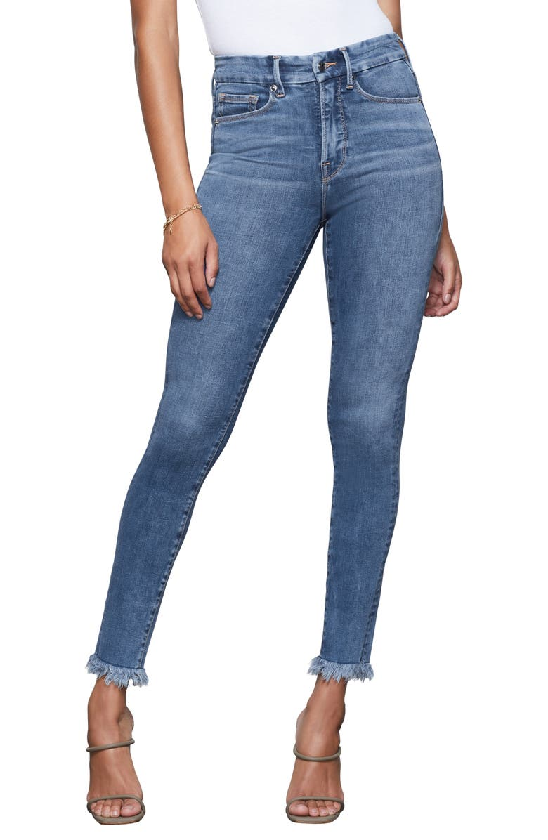 GOOD AMERICAN Good Legs High Waist Jeans, Main, color, BLUE342