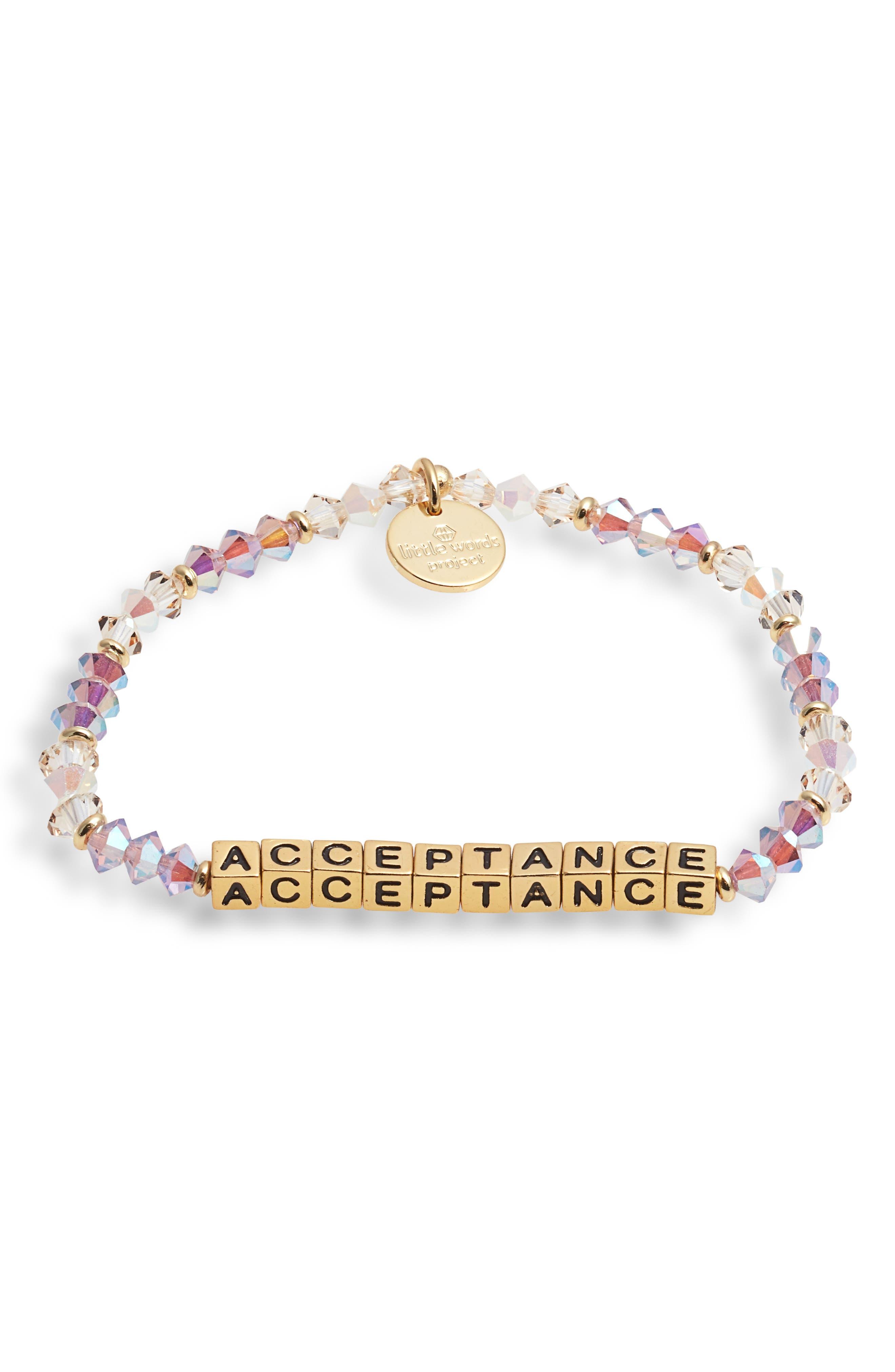 Acceptance Beaded Stretch Bracelet