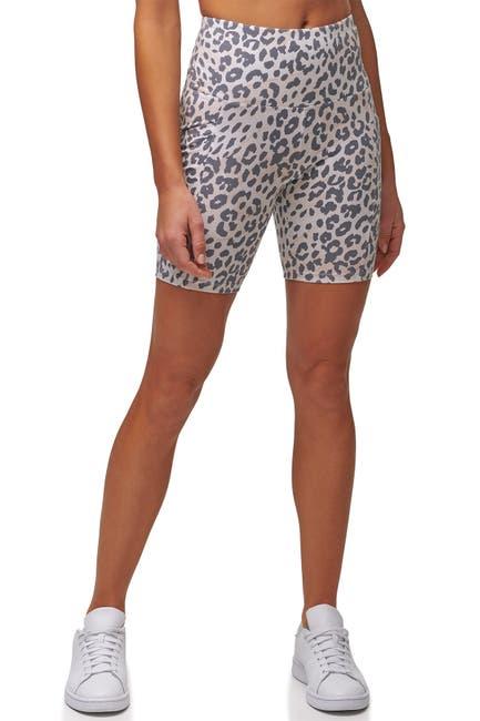 Image of MARC NEW YORK PERFORMANCE Leopard Biker Shorts