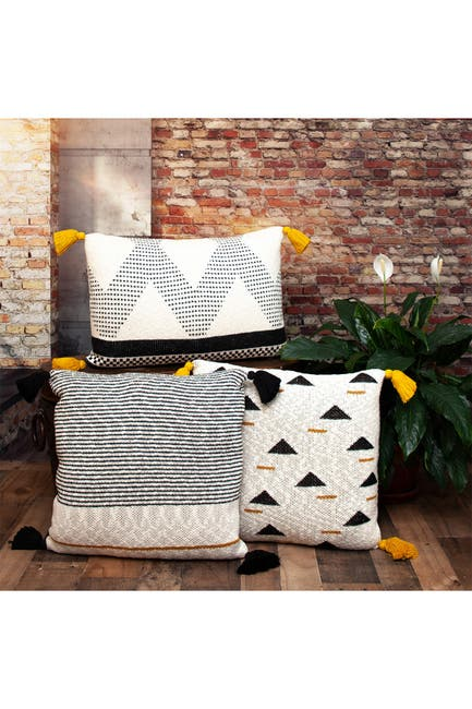 Image of Parkland Collection Kimmi Transitional Beige Throw Pillow