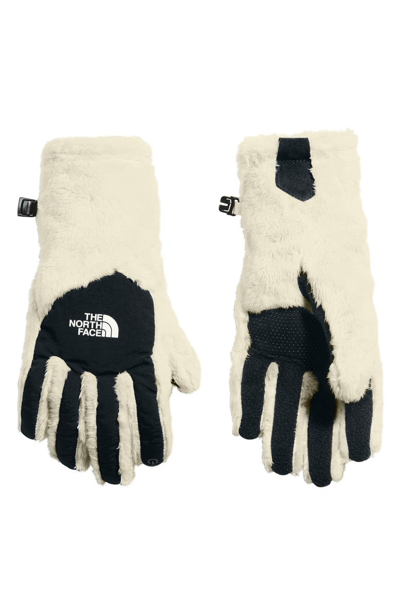 THE NORTH FACE Osito E-Tip Gloves, Main, color, VINTAGE WHITE