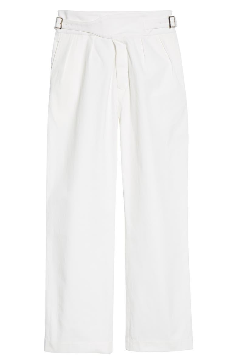 NOAH Twill Gurkha Pants, Main, color, WHITE
