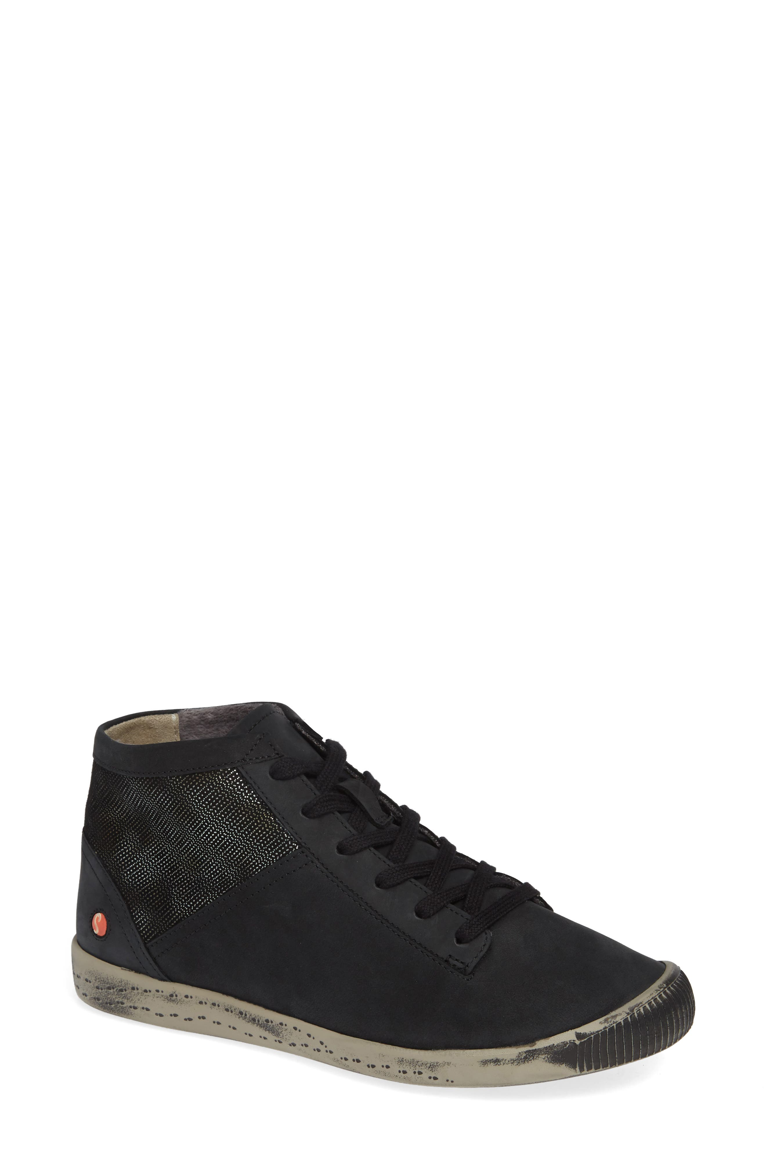 Softinos By Fly London Iap High Top Sneaker - Black