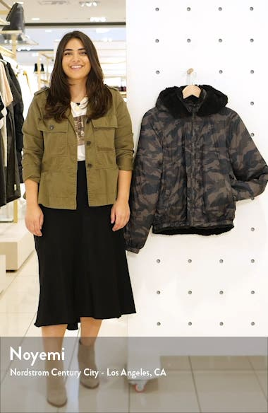 Reversible Faux Shearling Puffer Jacket, sales video thumbnail