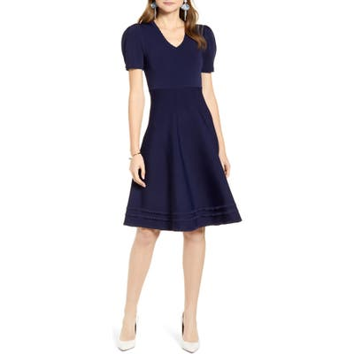 Rachel Parcell Fit & Flare Sweater Dress, Blue (Nordstrom Exclusive)