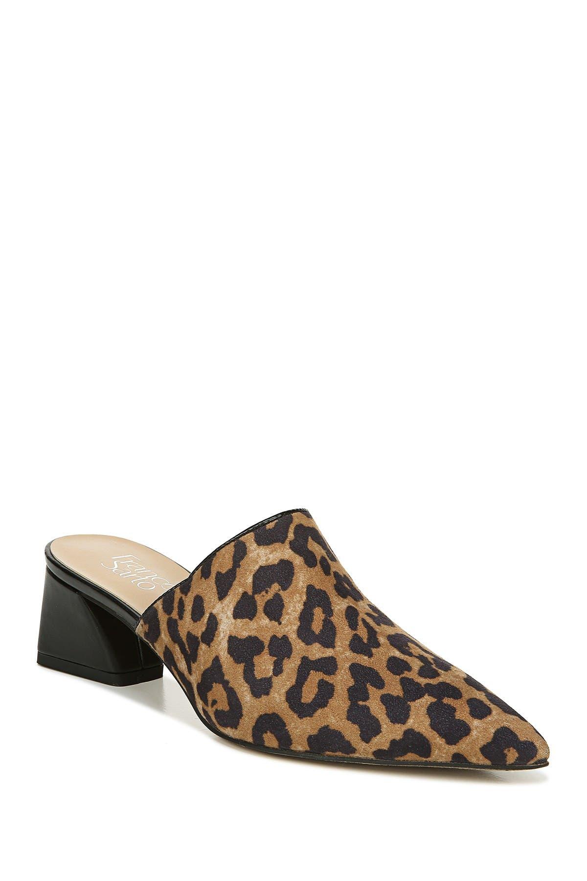 Rianan Leopard Print Block Heel Mule