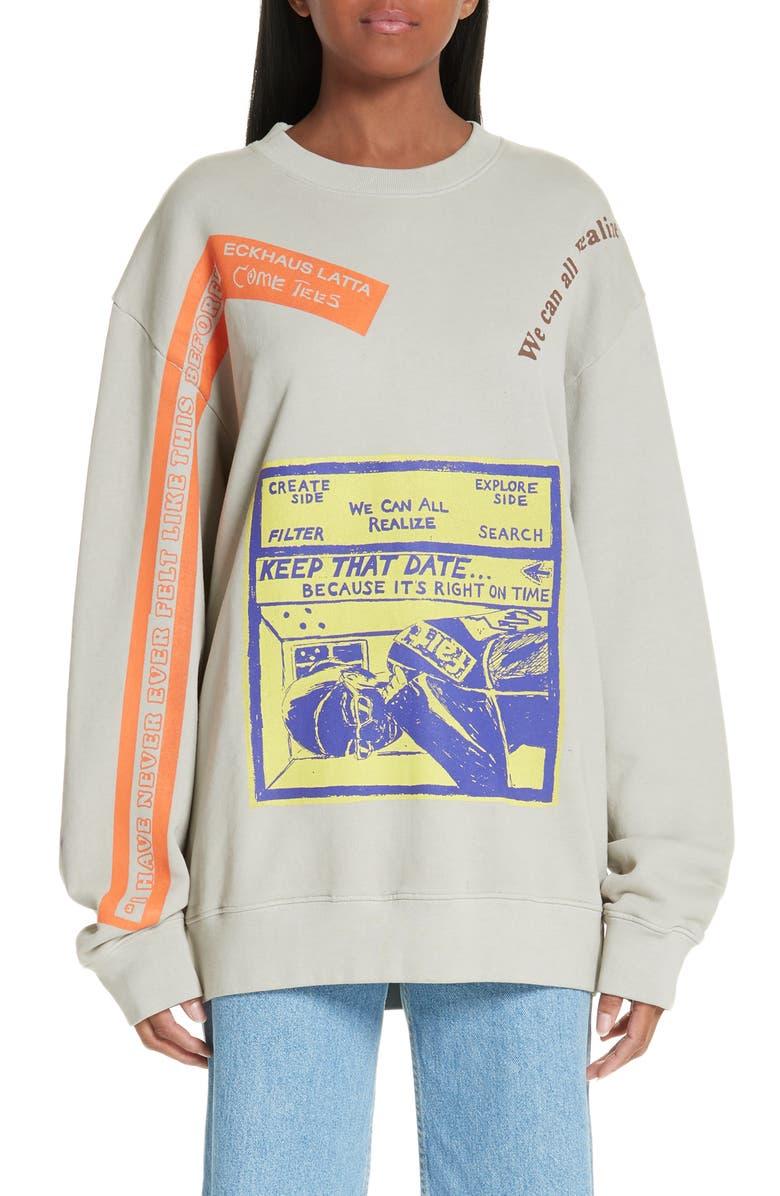 ECKHAUS LATTA Print Sweatshirt, Main, color, 020