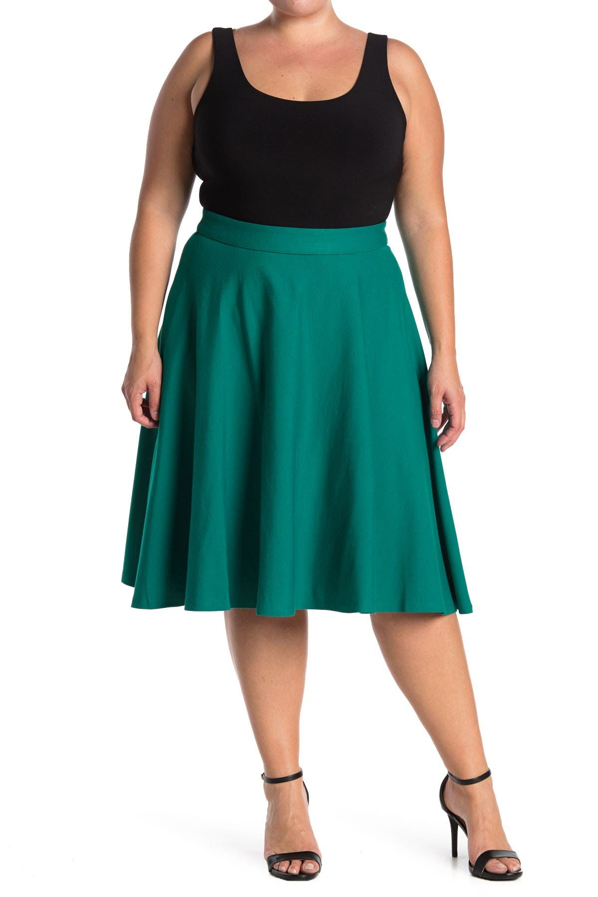 Image of ELOQUII Ponte Circle Skirt