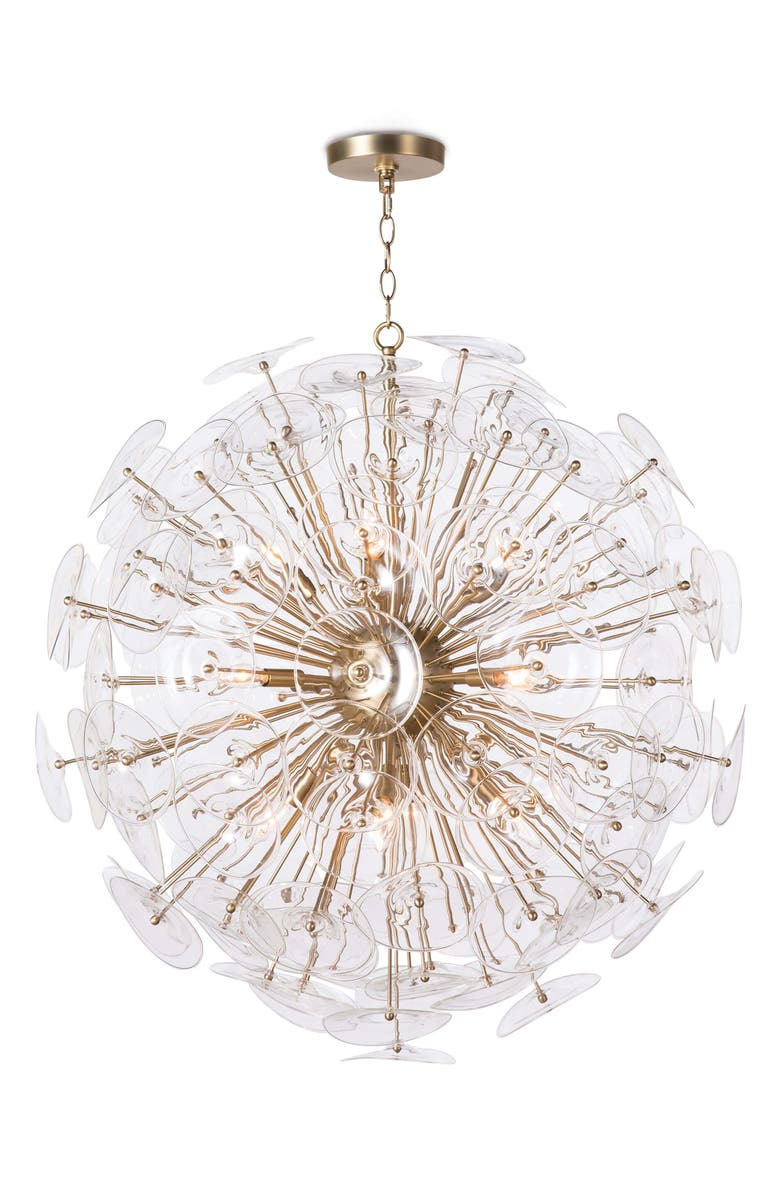 REGINA ANDREW DESIGN Poppy Glass Chandelier, Main, color, WHITE MULTI