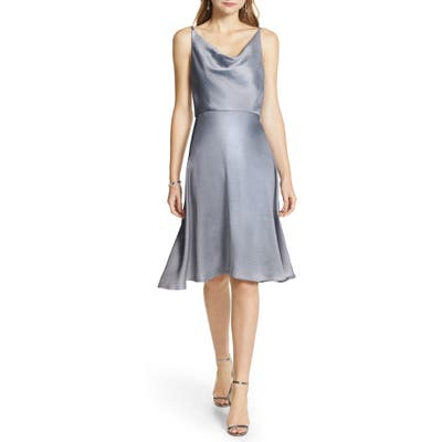 Chi Chi London Zabela Cowl Neck Satin Dress, Blue