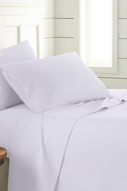 Image of SOUTHSHORE FINE LINENS Queen Ultra-Soft 4-Piece Sheet Set - White