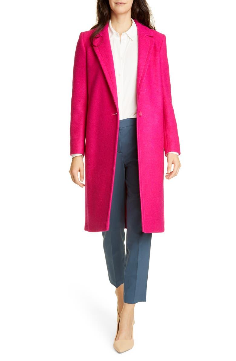 College Wool Blend Coat by Helene Berman