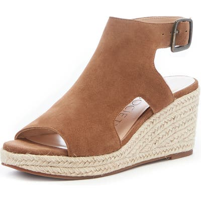 Sole Society Camreigh Espadrille Wedge, Brown