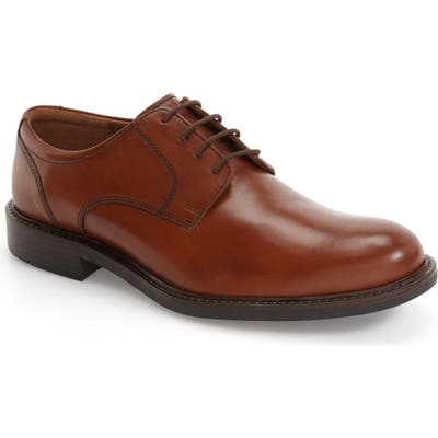 Johnston & Murphy Tabor Plain Toe Derby- Brown