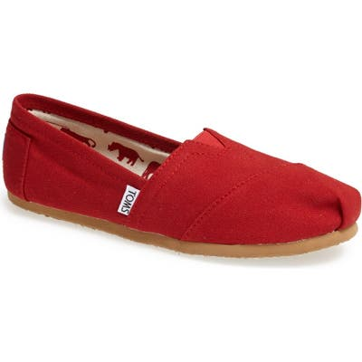 Toms Classic Canvas Slip-On- Red